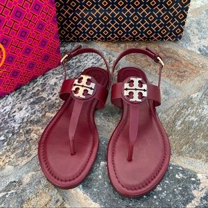 Tory Burch Bryce Leather Sandal ( size 7.5)
